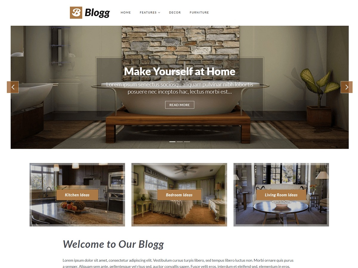 Blogg WordPress blog template