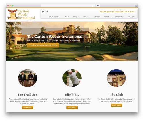 Customizr free WordPress theme - carltonwoodsinvitational.com
