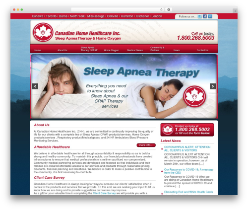 DT Theme WordPress template - canadianhomehealthcare.com