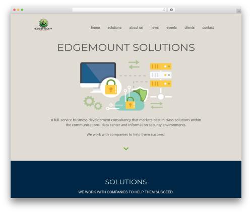 FirstOne OnePage WordPress Theme template WordPress - edgemountsolutions.com