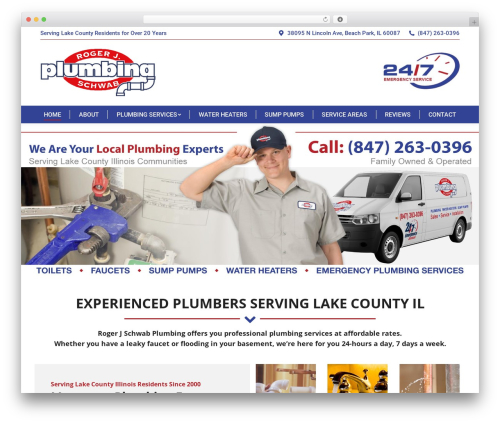 The7 WordPress template for business - callmyplumber.com