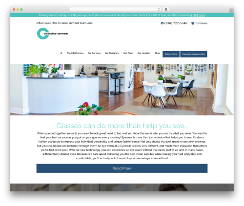 WordPress template Optometry - ceyewear.com