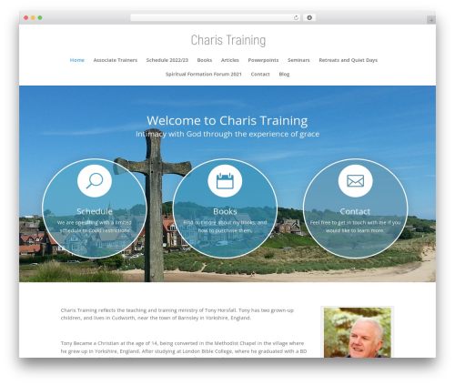WordPress website template Divi - charistraining.co.uk