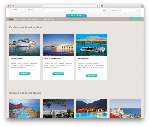 BookYourTravel WordPress travel theme - capstonetravel.com