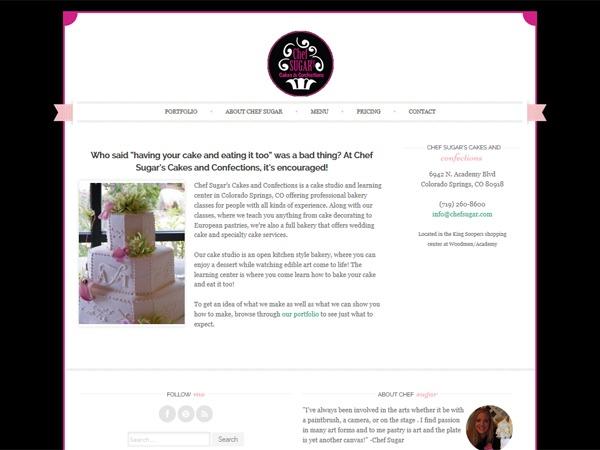 Chef Sugar WordPress theme