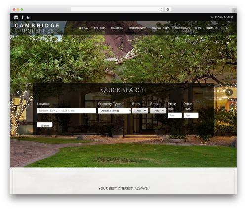 cp real estate template WordPress - cambridgeproperties.com
