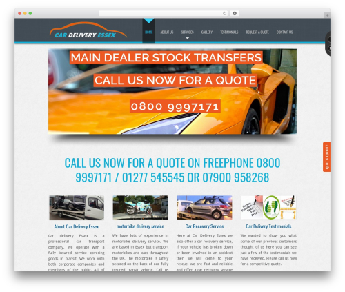 D5 Business Line Extend company WordPress theme - cardeliveryessex.com