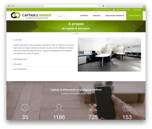Dikka Child theme WordPress - captair-dimavent.fr