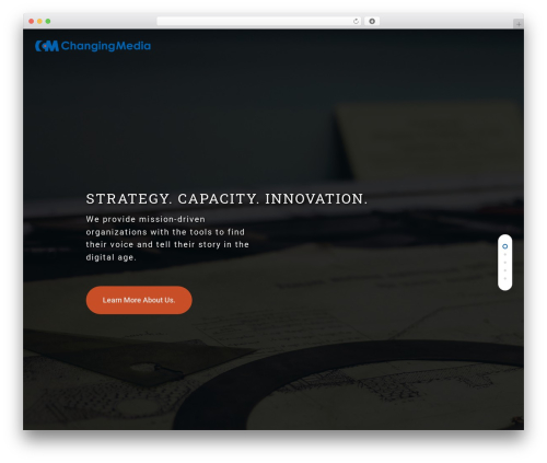 Salient WordPress website template - changingmediagroup.com