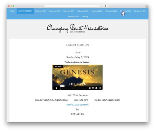 Sean Lite WordPress theme - changingpointministries.com