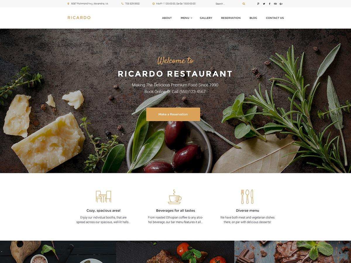 Theme WordPress Ricardo