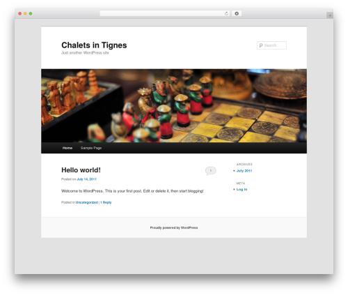 Twenty Eleven free WordPress theme - chalettignes.co.uk
