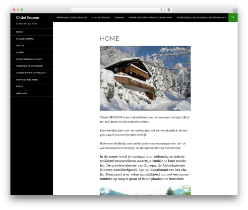 Twenty Fourteen WordPress template free - chaletindealpen.nl
