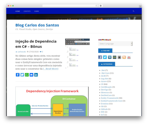 Boldly Go Blue WordPress blog theme - carloscds.net
