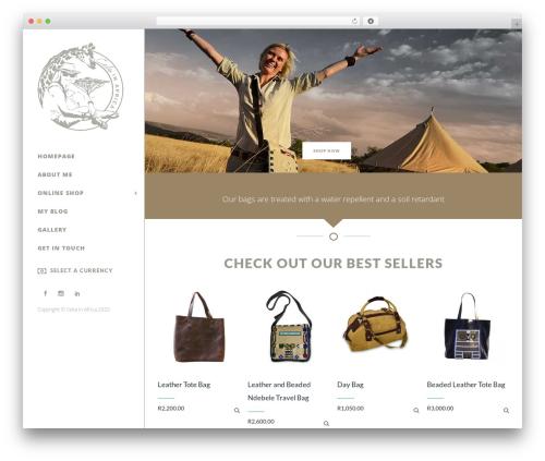 Burst WordPress ecommerce theme - celiainafrica.com
