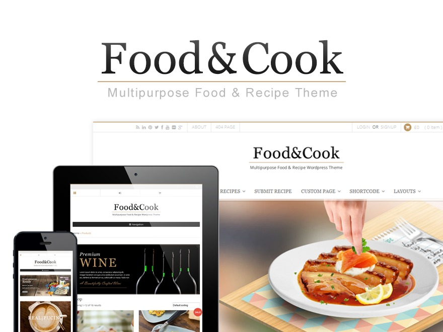 Food and Cook Child food WordPress theme