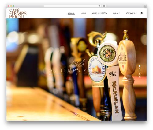 Rosa template WordPress - cafeautempsperdu.com