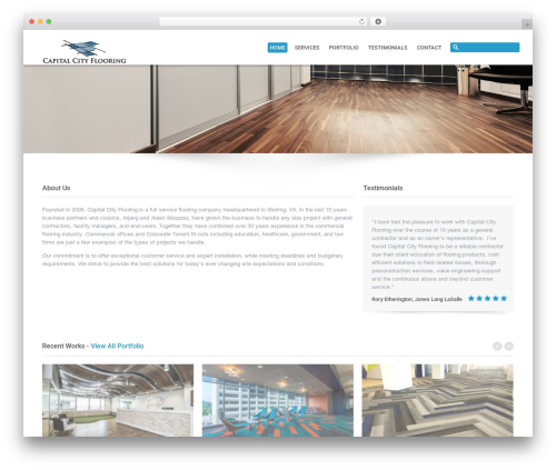 Theme WordPress System - capflooring.com