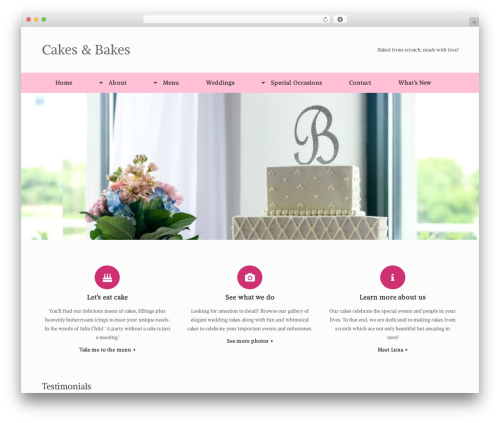 Theme WordPress Vantage Premium - cakesandbakescharlotte.com
