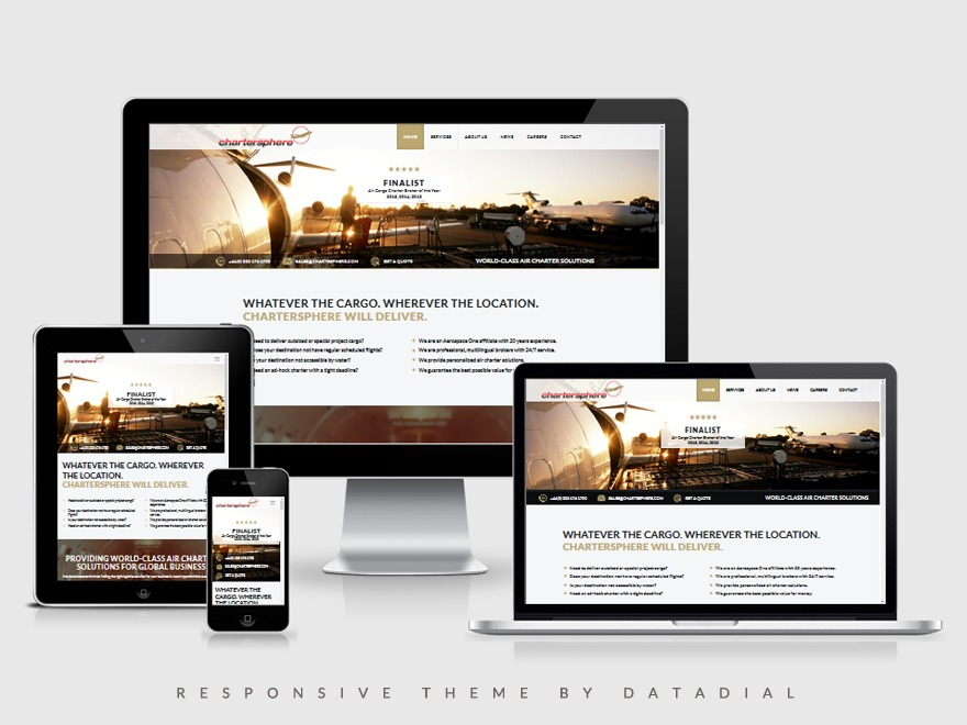 WordPress theme Prima by datadial