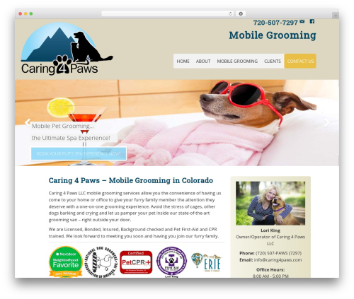 WP theme Executive Pro Theme - caring4paws.net