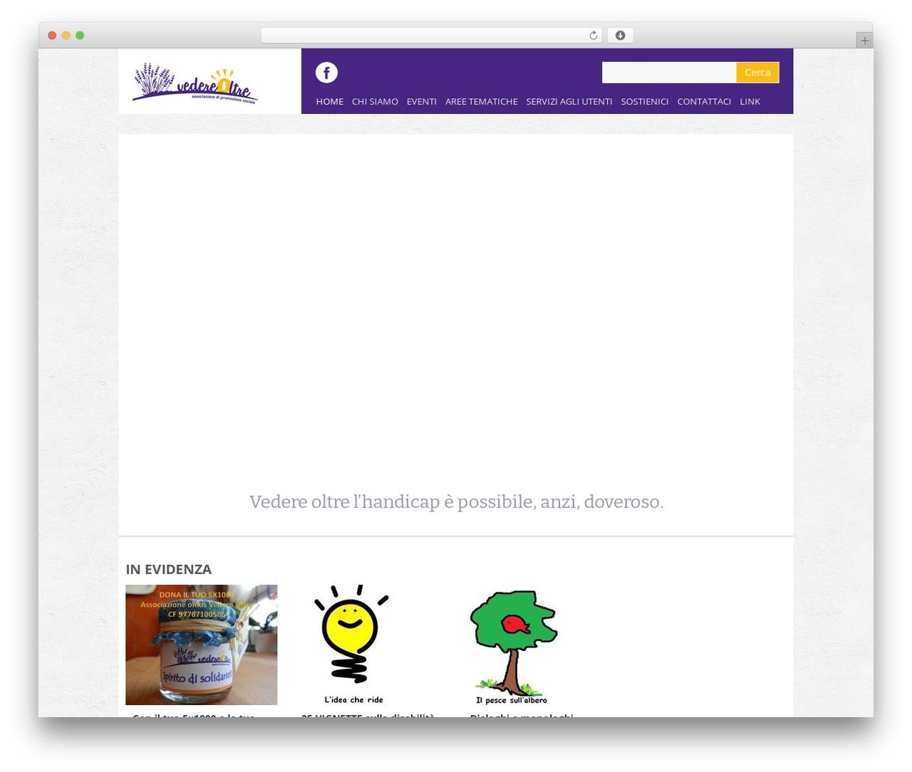 Yasmin theme WordPress - vedereoltre.org