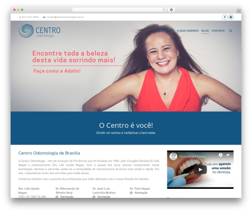 Best WordPress theme The7 - centroodontologia.com.br