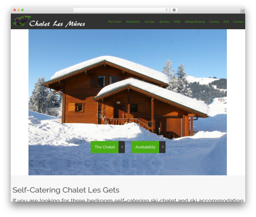 cherry WordPress page template - chaletlesmures.com