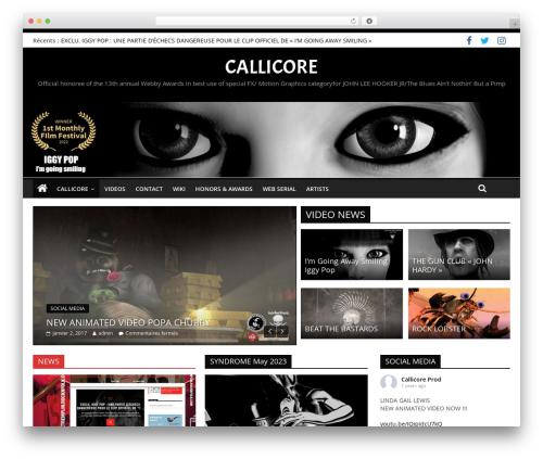 ColorMag Pro WordPress website template - callicore-insubordinate.com