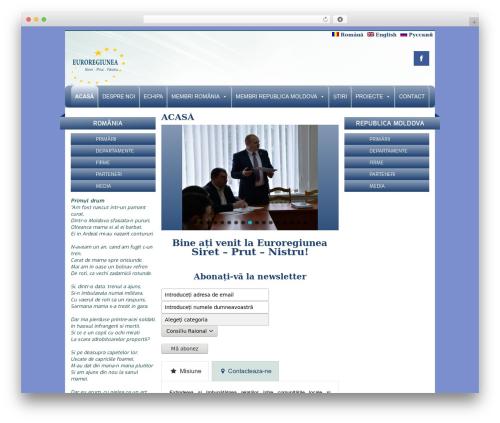 Creativ WordPress theme design - euroregiune.org