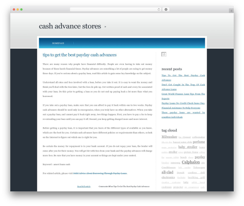 Emporium WordPress theme - cash-advance-stores.com