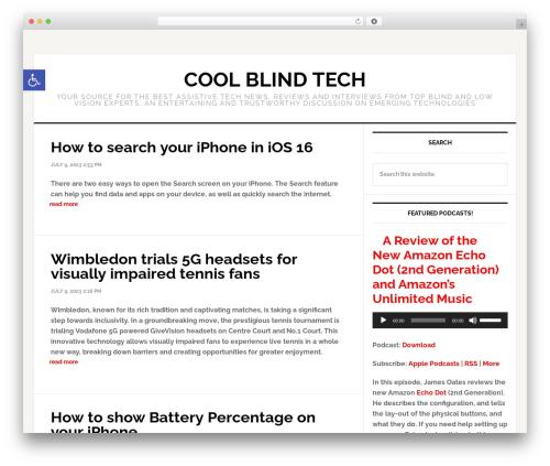 Genesis newspaper WordPress theme - coolblindtech.com
