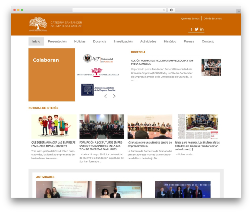 Magazine newspaper WordPress theme - cef-ugr.org