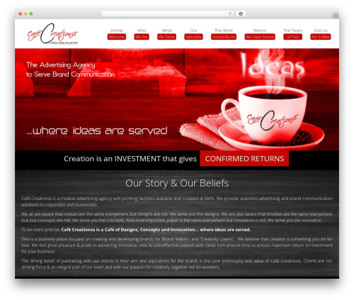 Omega. theme WordPress - cafecreationss.in