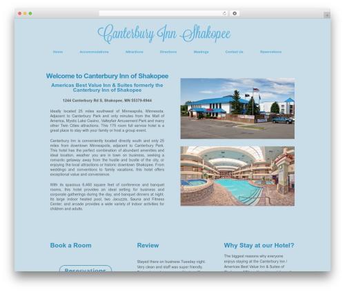 Responsive Pro WordPress hotel theme - canterburyinnshakopee.com
