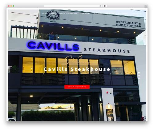 Rosa food WordPress theme - cavssteakhouse.com