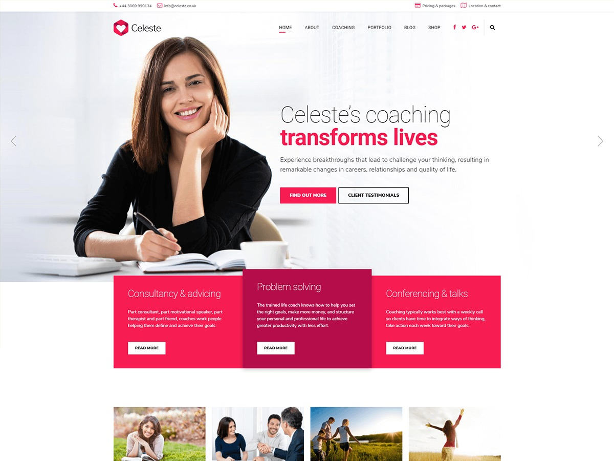 Theme WordPress Celeste
