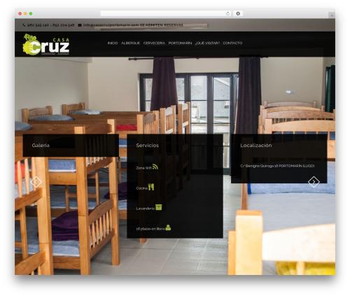 Theme WordPress Holiday - casacruzportomarin.com/inicio