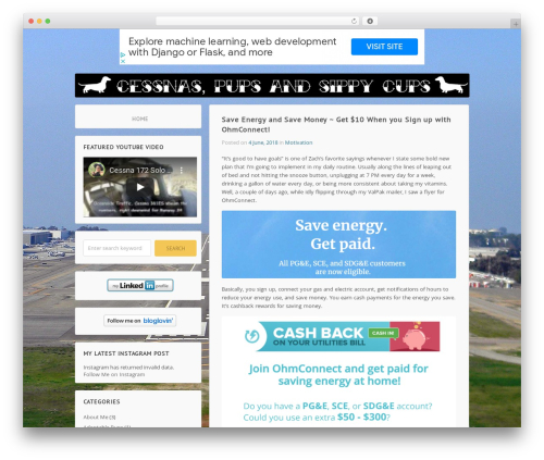 Wordpost best free WordPress theme - cessnaspupsandsippycups.com