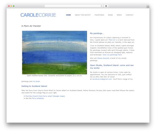 WordPress website template Photocrati Theme - carolecorrieart.com