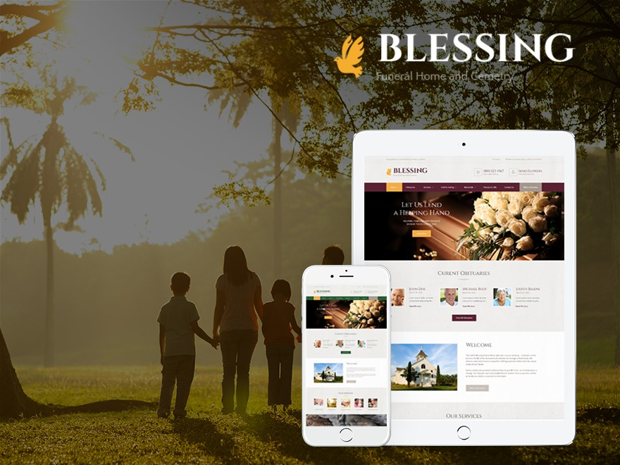 Best WordPress template BLESSING | Shared by Themes24x7.com