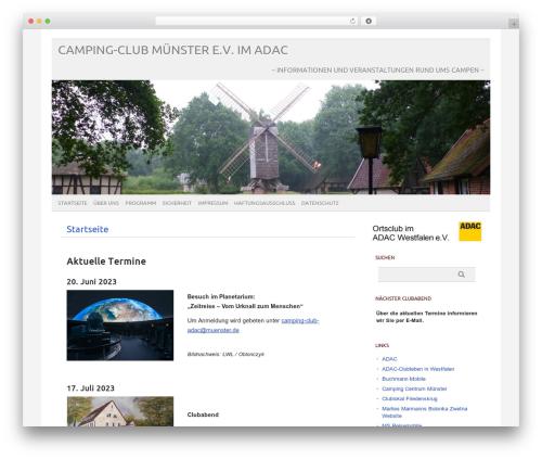 Best WordPress template picolight - camping-club-muenster.de/wordpress
