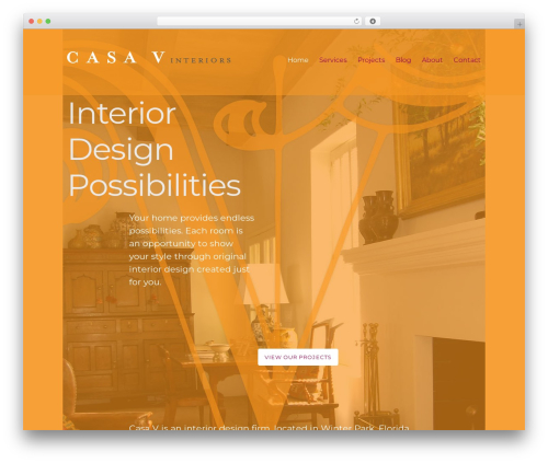 Caveat best free WordPress theme - casa-v-interiors.com