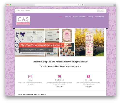 Corpo best wedding WordPress theme - casweddingstationery.co.uk