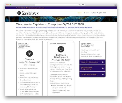 Divi WordPress theme - capistranocomputers.com