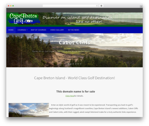 Free WordPress Theme My Login plugin - capebretongolf.com