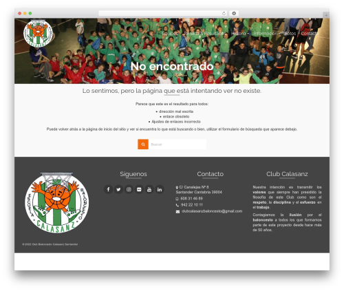 Pinnacle free WP theme - calasanzbaloncesto.es