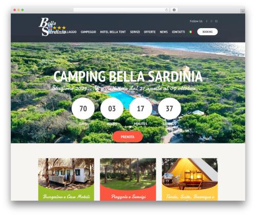 SevenHills WordPress website template - camping-bellasardinia.com