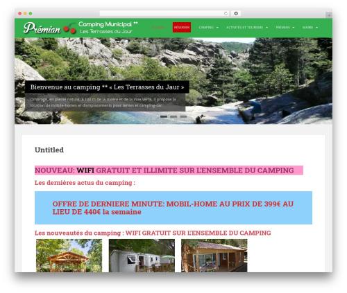 Sparkling WordPress template free - camping-premian.fr