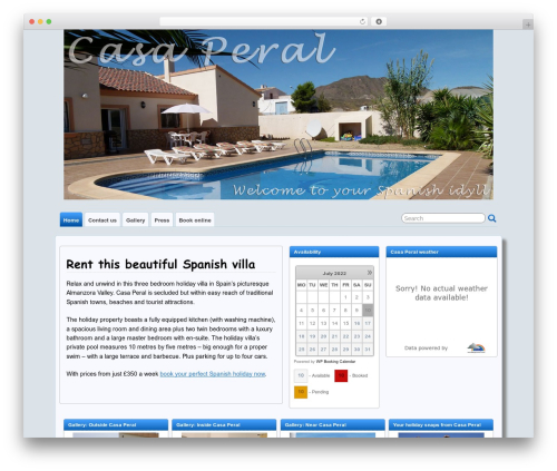 Suffusion WordPress theme design - casa-peral.com